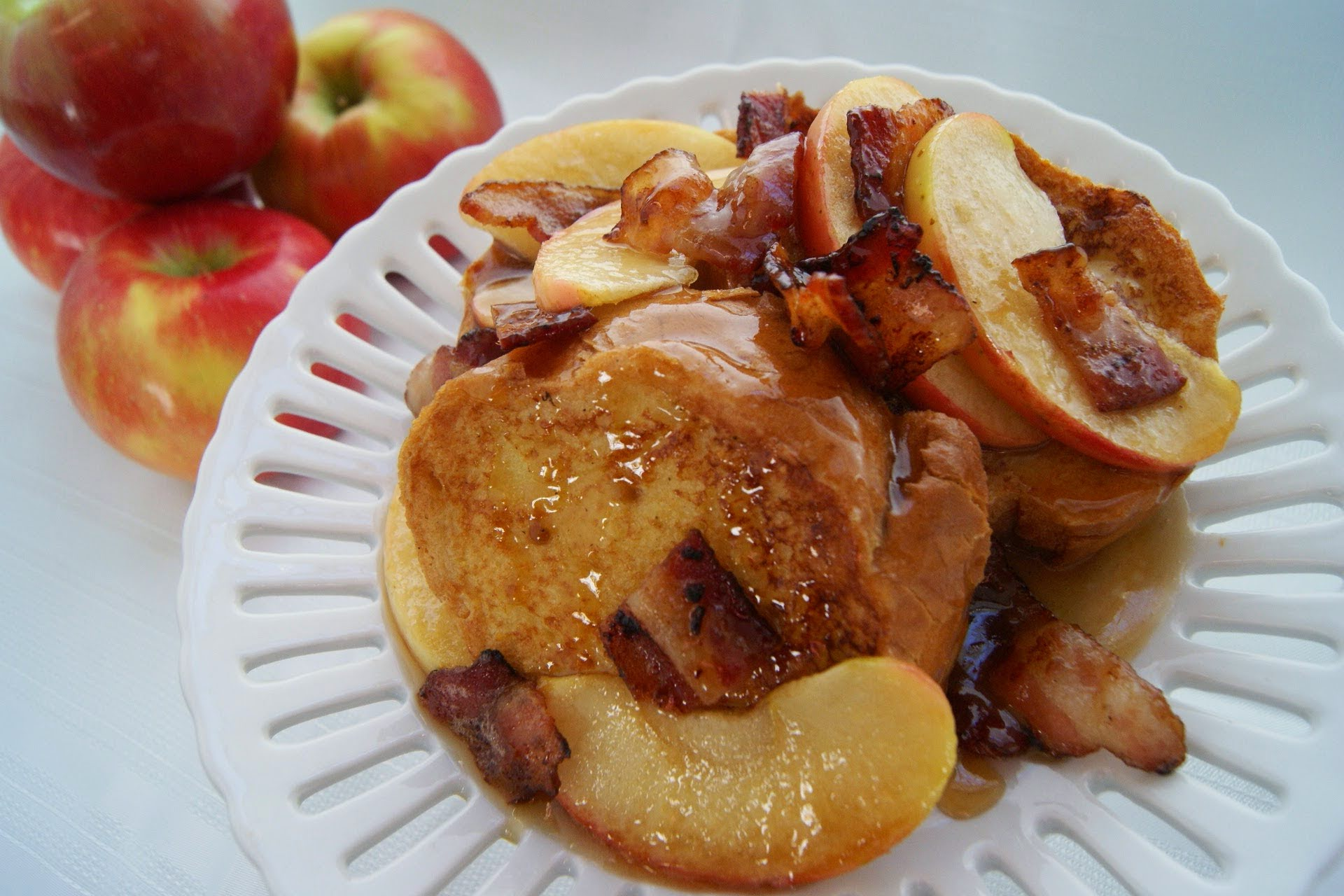 Caramel Apple Bacon French Toast